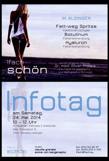 Infotag bei hautnah - Wellness & Vital Studio in Remseck am 24. Mai 2014